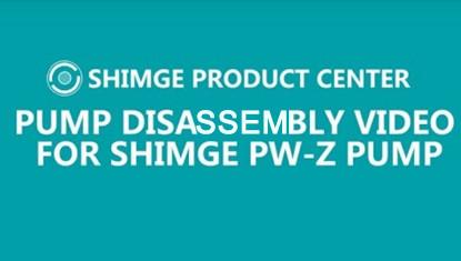 Video za demontažu pumpe za SHIMGE PW-Z